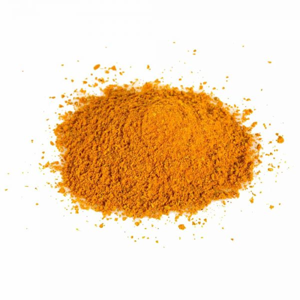curry powder isolated on white background